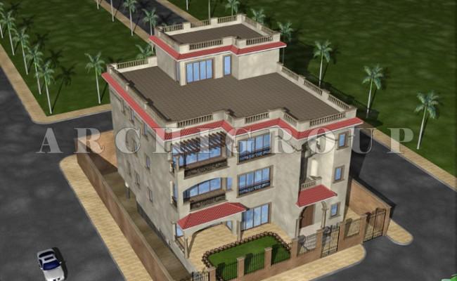 Villa Mr hazem Elhadad in fifith compound -1000m2-2006 (2)